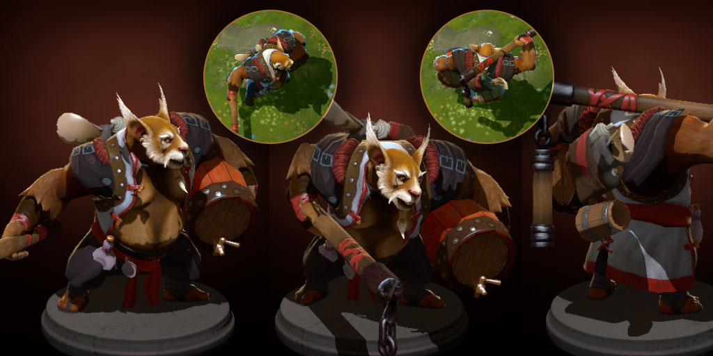 dota2 brewmaster order of the caretos polycount